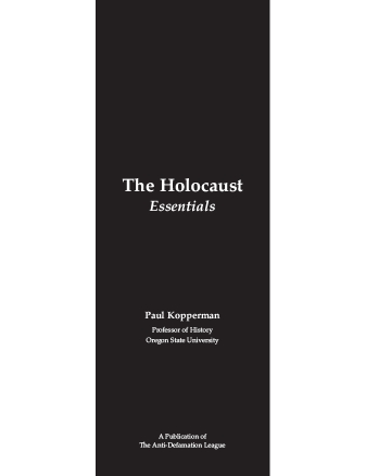 The Holocaust:  Essentials